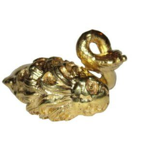 18 kt Gold Vermeil over Brass Etruscan Lion Wrap R